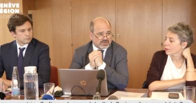 Conférence de presse de la ville de Genève suite au rapport de la cour des comptes sur les frais professionnels du Conseil administratif et de la direction de la ville