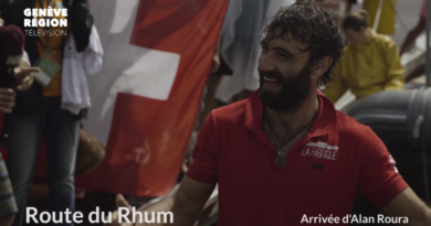 Route du Rhum: Les images de l'arrivée d'Alan Roura