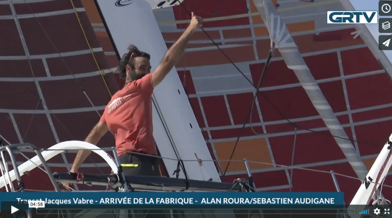 Transat Jacques Vabre: L'arrivée d'Alan Roura et de Sébastien Audigane